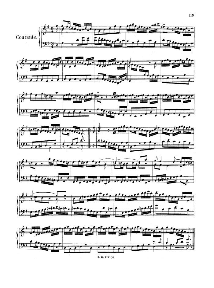 BWV 816 - French Suite No. 5 free sheet music by Bach | Pianoshelf: https://www.pianoshelf.com/sheetmusic/725/bach-bwv-816---french...