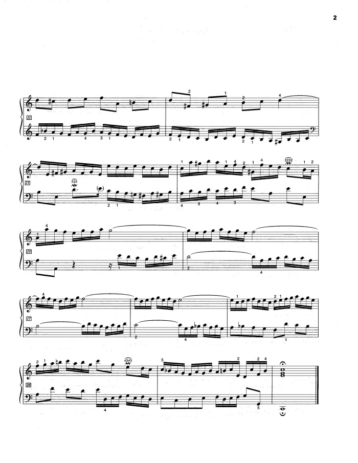 BWV 772 - Invention No 1 free sheet music by Bach
