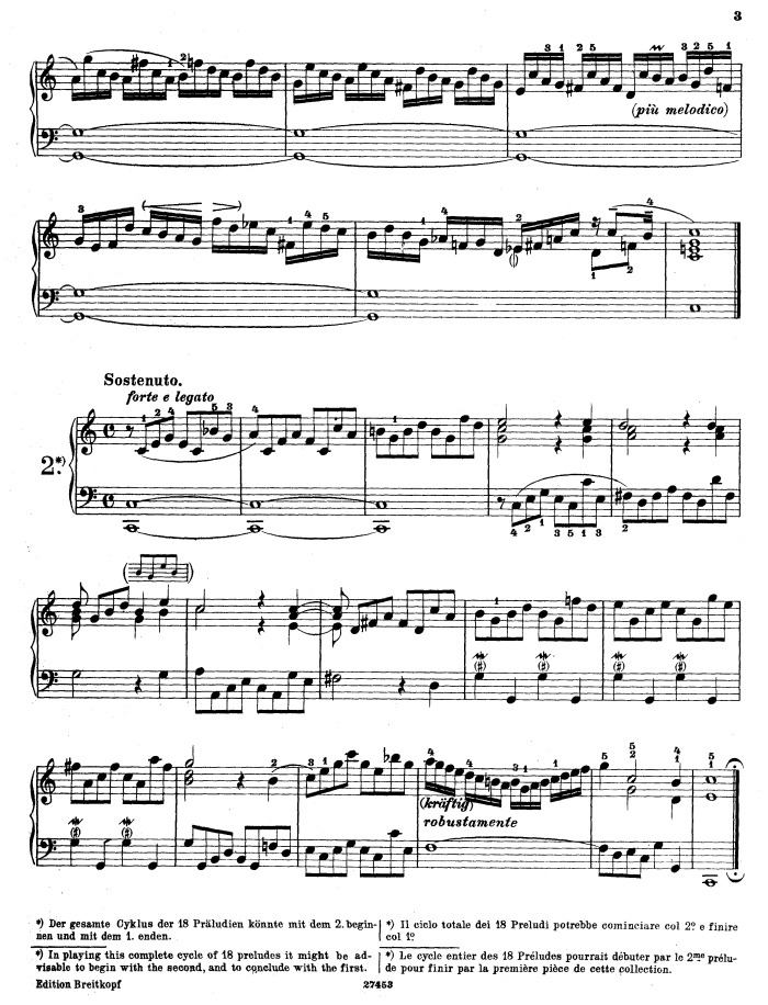 BWV 939 - Prelude in C major free sheet music by Bach ...