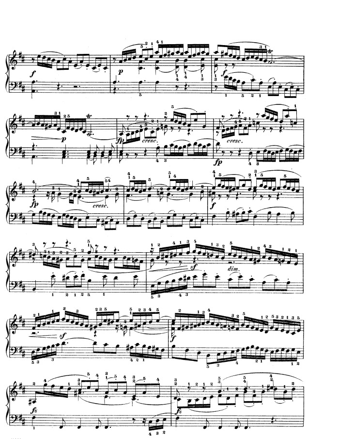 BWV 874 - WTC, Book 2: Prelude and Fugue No  5 free sheet music by
