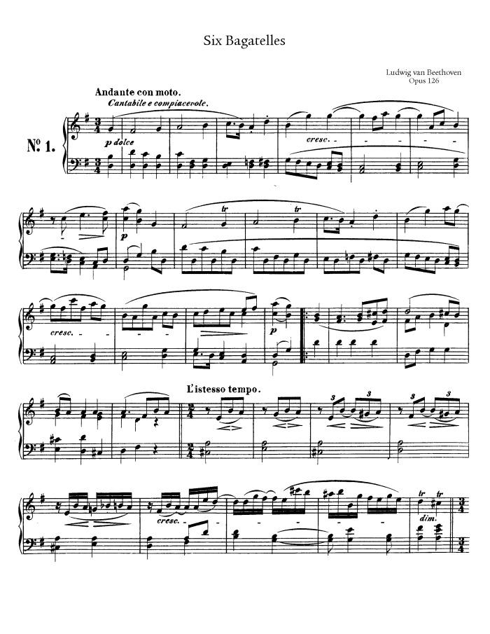 700 x 905 jpeg 150kB, Op.126: Six Bagatelles free sheet music by ...