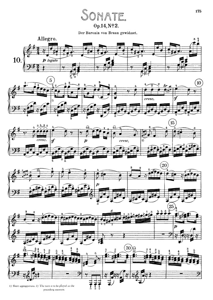 analysis of beethovens sonata After reading marek's account i took another look at the first of the five so-called  late-beethoven sonatas, opus 101, which beethoven had dedicated to that same .