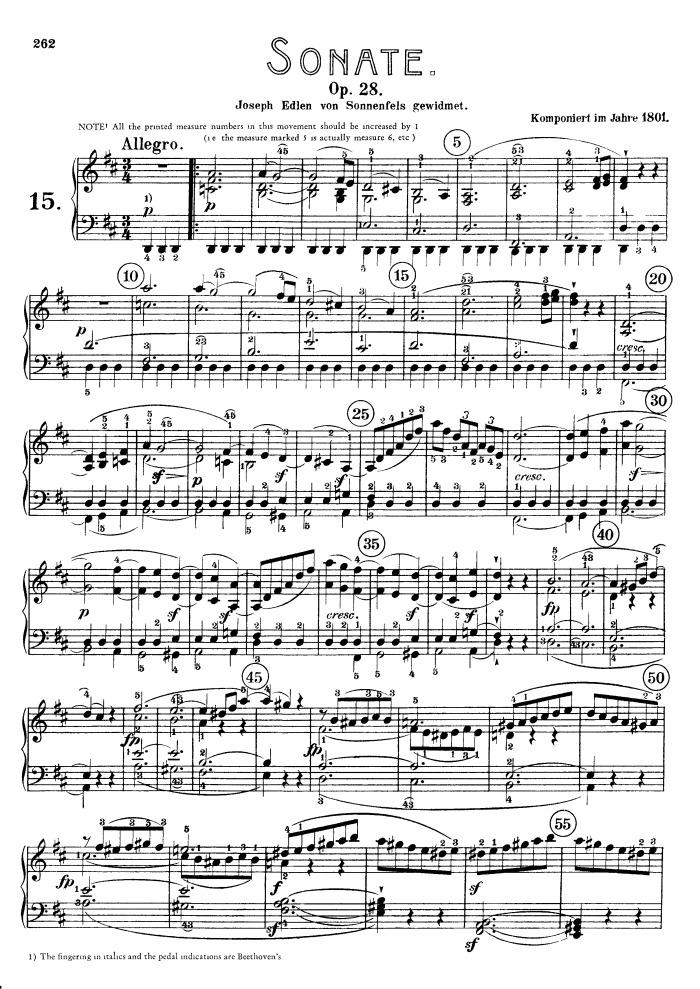 Sonata in G Major, Op. 28