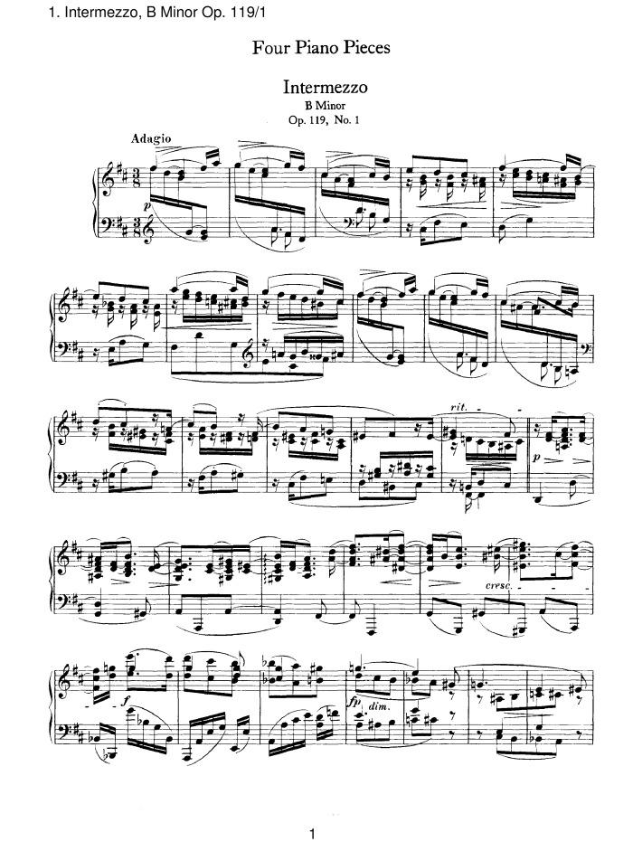 BRAHMS: Intermezzi, Op. 117 / Piano Pieces, Opp. 118-119