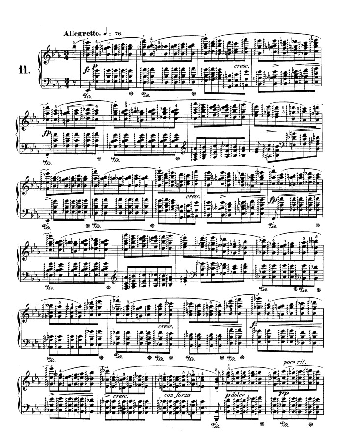 op 10 no 11 arpeggio free sheet music by Chopin | Pianoshelf