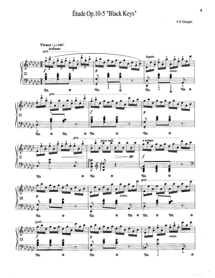 Black Keys Piano Sheet Music Black Keys Sheet Music For