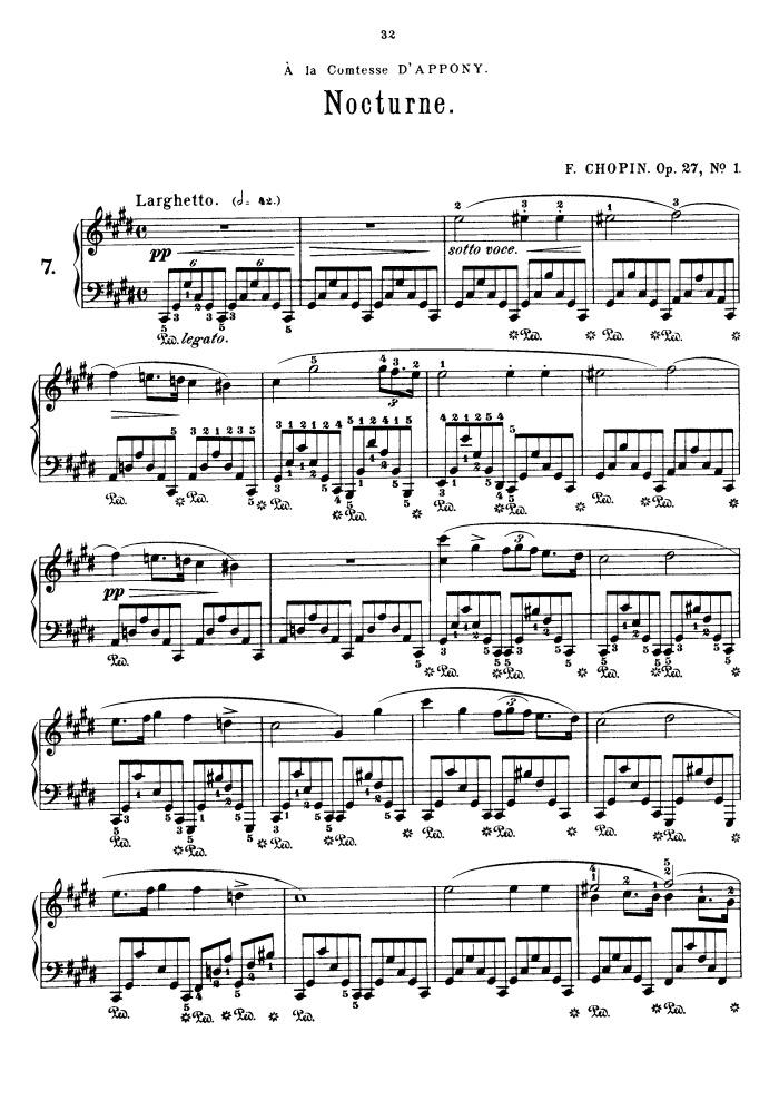 op.27 no.1 free sheet music by Chopin   Pianoshelf