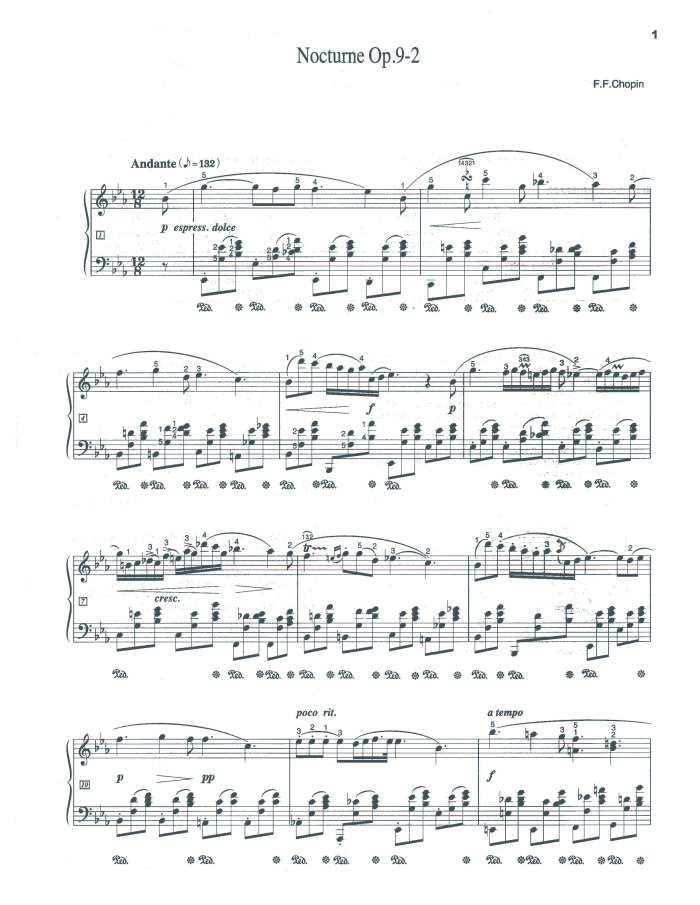 Nocturne in E-flat major, Op. 9, No. 2 free sheet music by Chopin ...