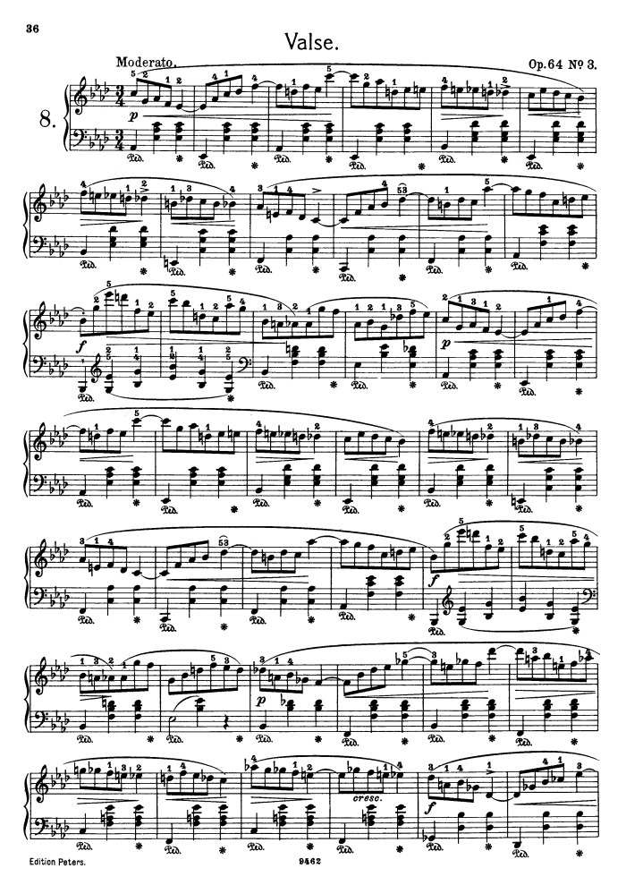 Op 64 No 3 Free Sheet Music By Chopin Pianoshelf