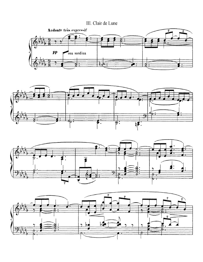 Piano free piano sheet music clair de lune : Browse Sheet Music | Pianoshelf - free sheet music