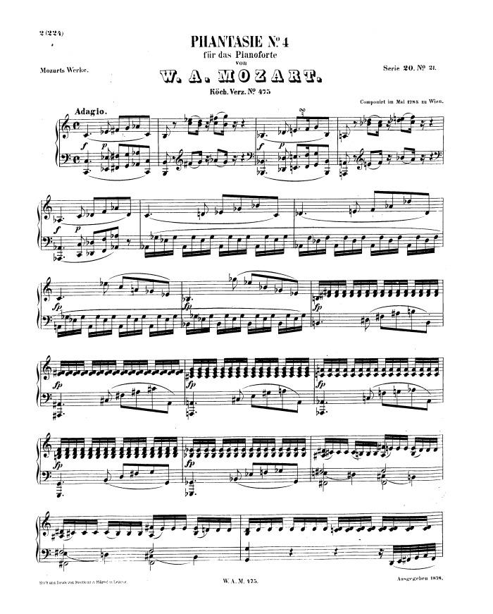 Fantasy No 3 K 397 Free Sheet Music By Mozart Pianoshelf