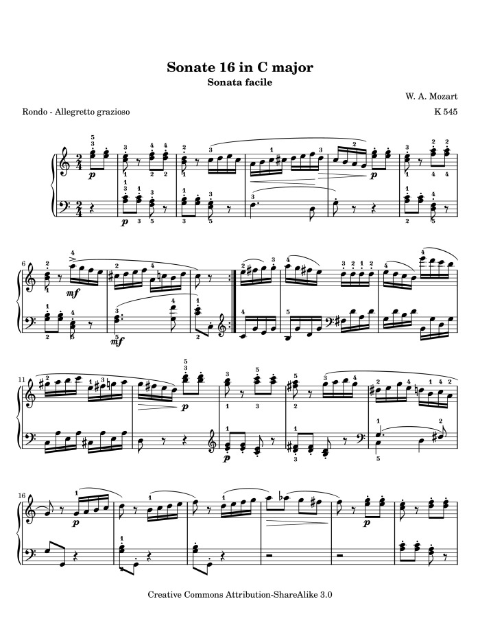 mozart piano sonata no 3 Download scientific diagram| wolfgang amadeus mozart, piano sonata no 3, k  281, iii, mm 1—8 from publication: perceiving the classical cadence | this.