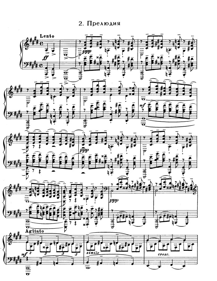 All Music Chords rachmaninoff sheet music : Op.3 No.2 Prelude (The Bells of Moscow) free sheet music by ...