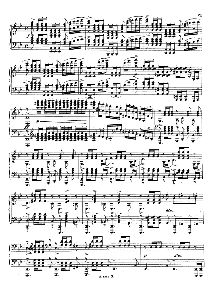 All Music Chords rachmaninoff sheet music : Op.23 No.5, Prelude in G minor free sheet music by Rachmaninoff ...