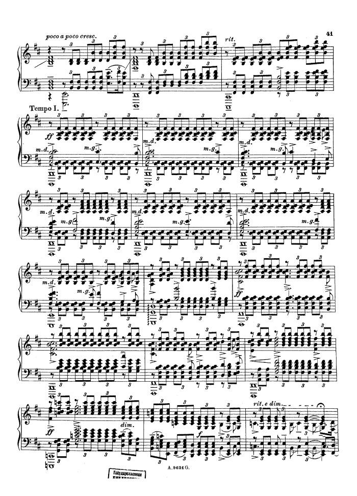 All Music Chords rachmaninoff sheet music : Op.32 No.10 Prelude in B minor free sheet music by Rachmaninoff ...