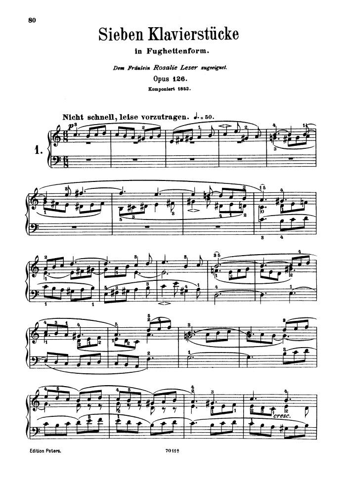 op. 126, seven piano pieces in fughetta form free sheet music by schumann    pianoshelf  pianoshelf