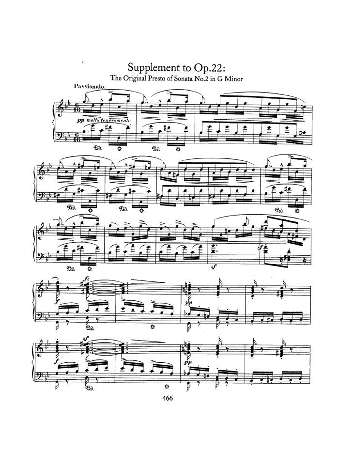 op. 22, sonata no. 2 in g minor free sheet music by schumann | pianoshelf  pianoshelf