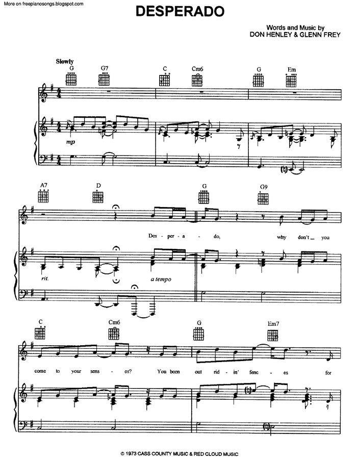 Enchanting Desperado Ukulele Chords Elaboration - Song Chords Images ...