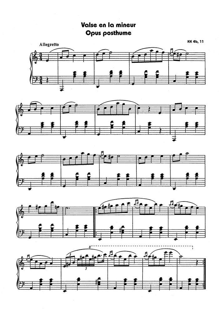 Chopin Waltz In A Minor Free Sheet Music By Rachmaninoff