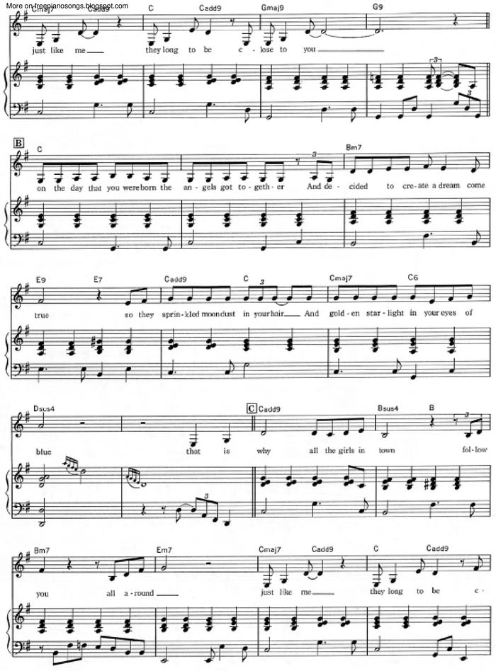 Close To You Free Sheet Music By Carpenters Pianoshelf