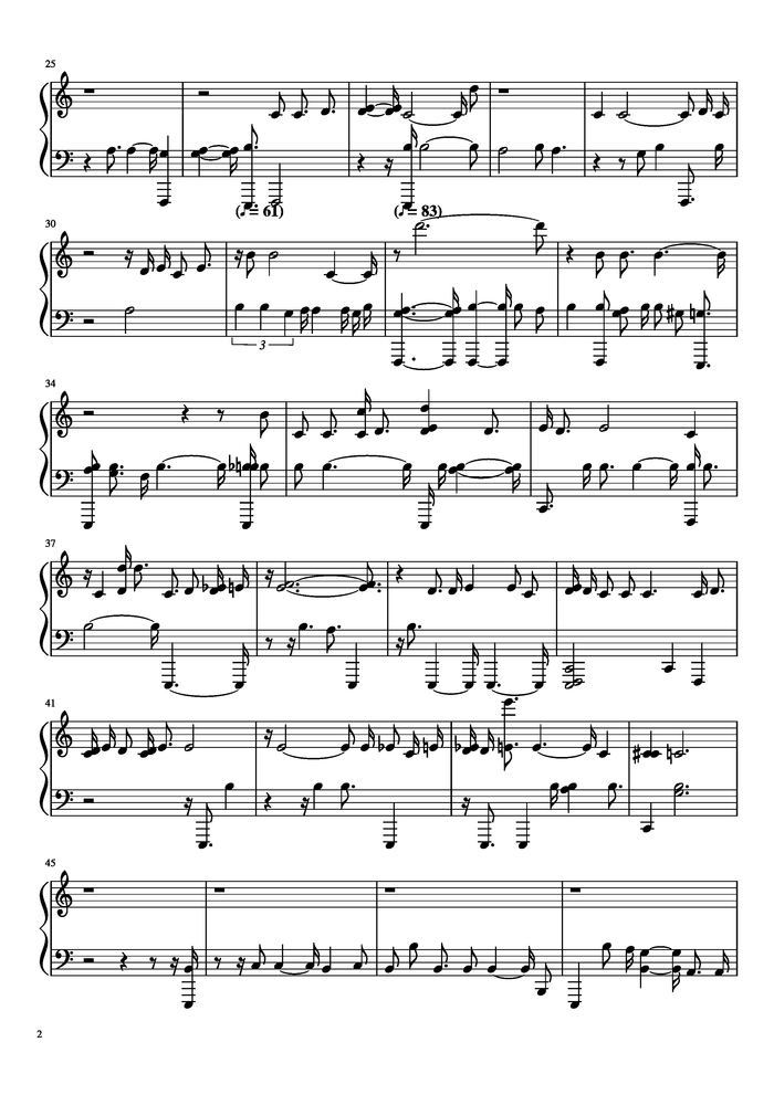 quiet space music sheet | browse world best music sheet online  welcome.unierize.it