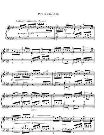 Bach prelude and fugue in f minor book 1