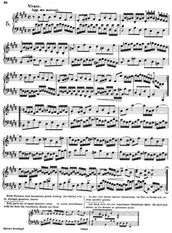 BWV 936 - Little Prelude in D major free sheet music by Bach