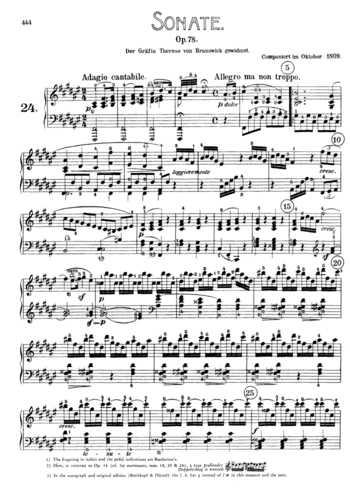 BEETHOVEN MUSIC SHEET
