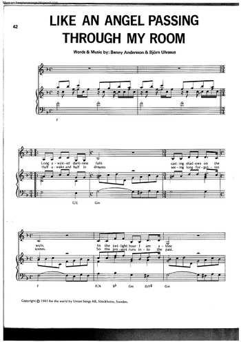 Slipping Through My Fingers free sheet music by Abba | Pianoshelf