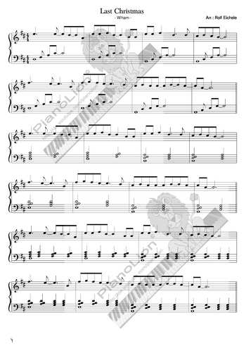 Last Christmas free sheet music by Last