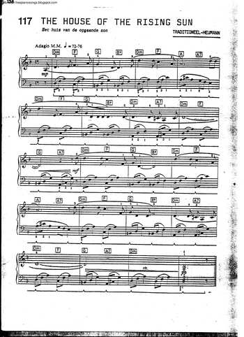 The House Of The Rising Sun Free Sheet Music By Animals Pianoshelf,How Do I Hang Curtains With Rings